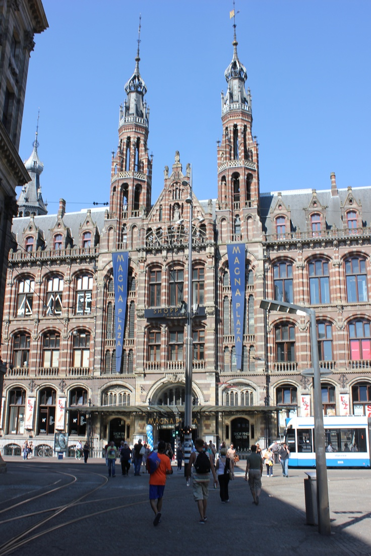 Magna Plaza Shopping Centre Amsterdam. The Netherlands, he former Head Post Office. Architect C. Peters.