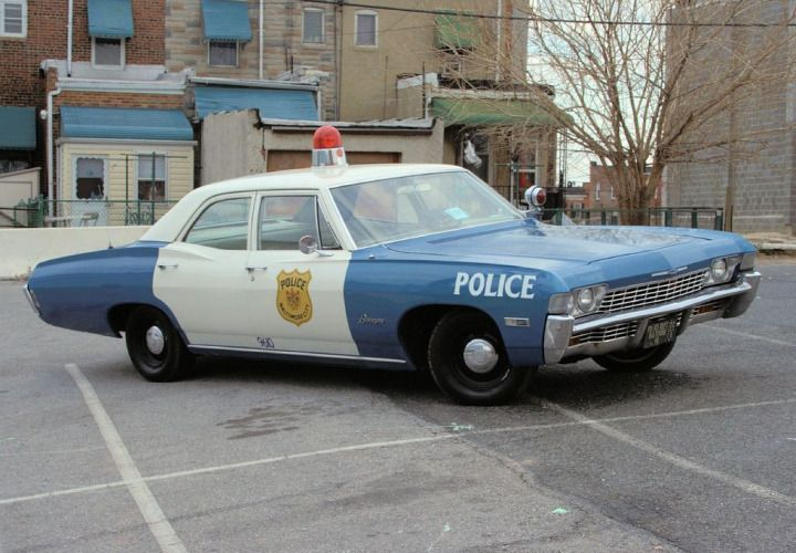This 1968 Chevy Biscayne, which was used by the Baltimore Police Department