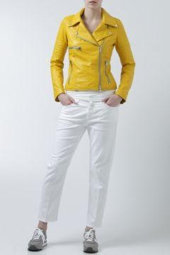 S.W.O.R.D.-giacca biker in pelle gialla-yellow leather biker jacket-S.W.O.R.D. shop online