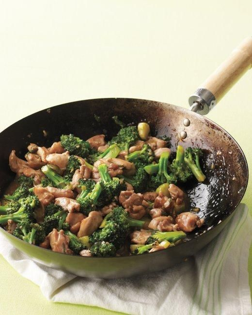 Chicken-and-Broccoli Stir-Fry Recipe: Broccoli Stir Fries, Broccoli Recipes, Chicken Thighs, Chickenandbroccoli Stirfri, Broccoli Stir Fry, Martha Stewart, Stir Fries Recipes, Chicken And Broccoli, Chicken Broccoli