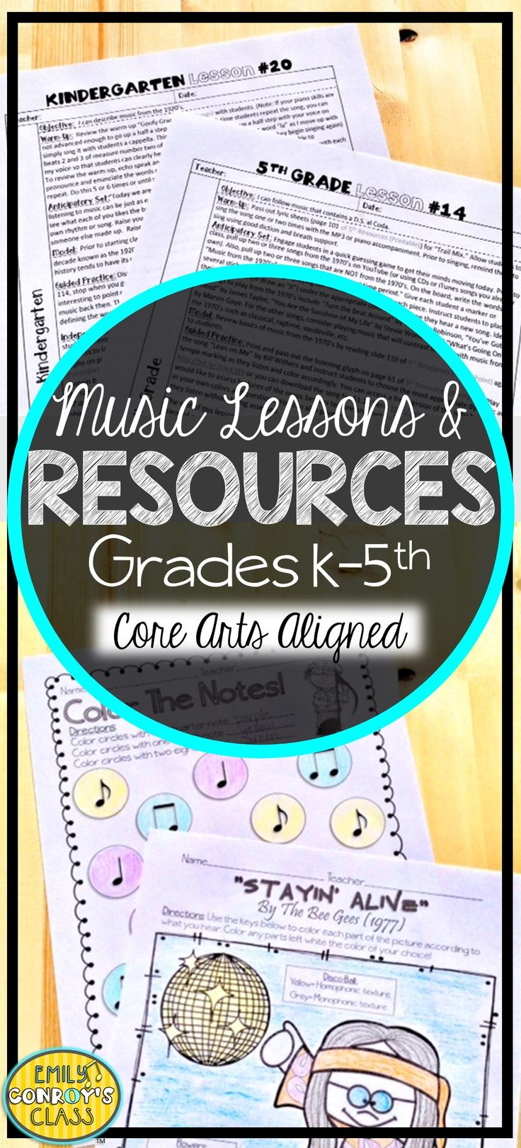 These elementary music lesson plans are aligned to the National Core Arts Standards! They are creative and concise and contain lesson plans and resources for grades K-5. They also include notation and sound files for all of the songs mentioned in the lessons!