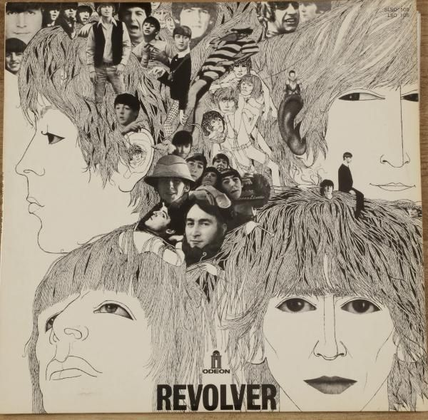 THE BEATLES - « Revolver » Odeon LSO 105 France 1966. 31 x 31 cm - 12 x 12 inches - , VINYLES : Classic, Pop Rock & Collector, Art Cover, Avant-Garde à Ader