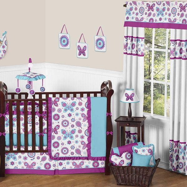 Sweet JoJo Designs Spring Garden 9-piece Crib Bedding Set
