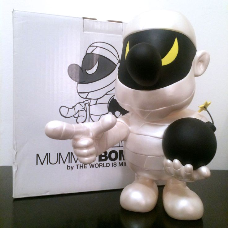 "10"" BOMBERKID THE MUMMY BOMBER TWIM SECRET BASE TIGER JET KAWS TOY VINYL FIGURE #TWIMSecretBas"