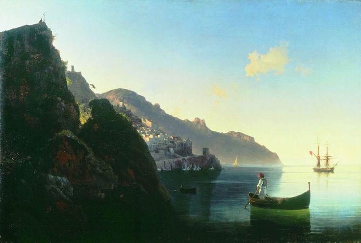 Побережье Амальфи Айвазовский.  1841  -  Amalfi Coast. 1841  The State Russian Museum, St. Petersburg
