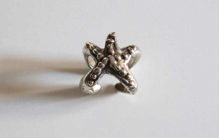 Starfish studded | made by hand silver ring  http://www.mimietoile.it/en/shop/stella-marina-borchiata/