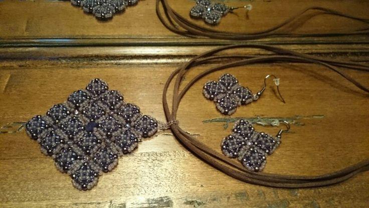 Toho beads and  firepolish