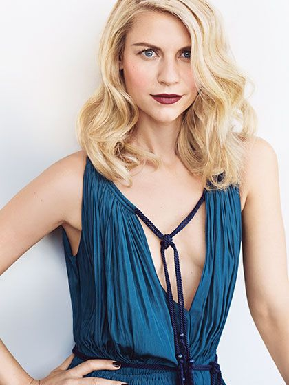 """See Claire Danes's 2015 Allure Cover Shoot: For Danes's second Allure cover shoot, photographer Sebastian Kim photographed her wearing evening gowns and a bold lip color. """"Her character in Homeland isn't glamorous, so we wanted to capture her in a more elegant way,"""" says Allure creative director Paul Cavaco. 