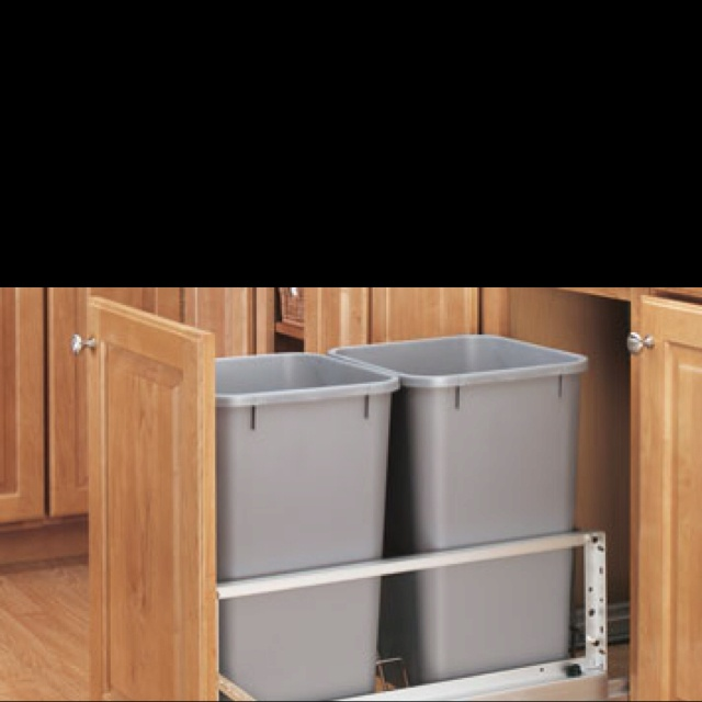 13 best images about recycling and trash bins on pinterest for Bins for kitchen cabinets