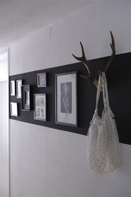 love the black paint stripe - what a great way to make artwork pop                                                                                                                                                                                 More