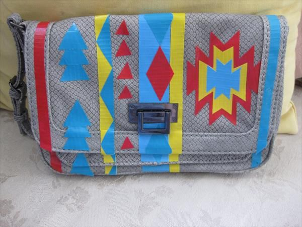 DIY Duct Tape Patterned Bag Tutorial | 101 Duct Tape Crafts