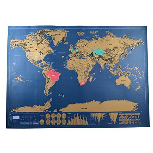 7 best travel map images on pinterest posters scratch off and yoluke fun europe world map travel deluxe edition vintage decorative poster creative birthday gift toy with card tube gumiabroncs Images