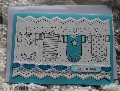 Hand made card  It's a Boy