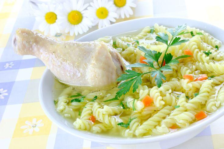 Суп с рыбой на курином бульоне