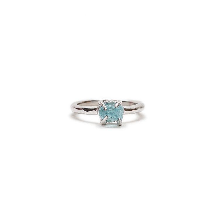 LEIA Ring With Aquamarine