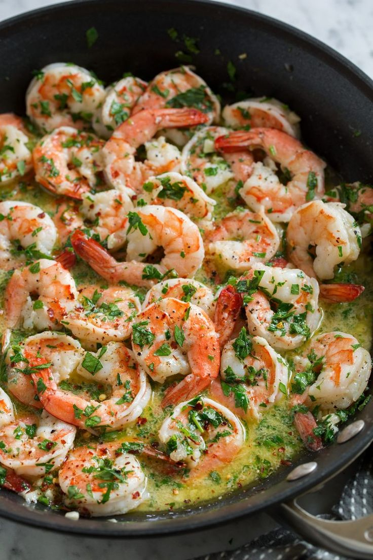 Shrimp Scampi – shrimp are seared in an incredibly flavorful buttery wine sauce …