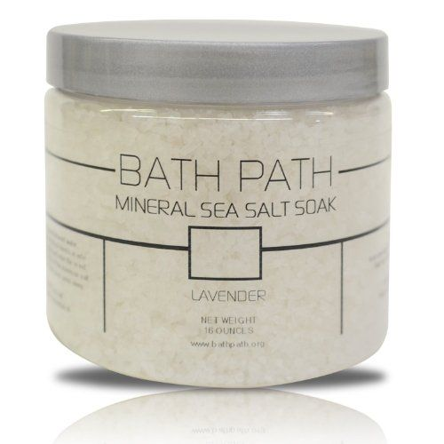 100% Natural Bath Salts Soak From Mediterranean Sea, Lavender   Price: $15.97 Body Care Tips