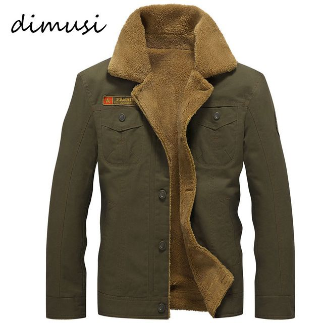 Limited Offer $30.95, Buy DIMUSI Winter Bomber Jacket Men Air Force Pilot MA1 Jacket Warm Male fur collar Army Jacket tactical Mens Jacket Size 5XL,PA061