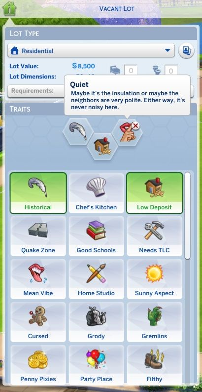 Mod The Sims: Unlocked Lot Traits by Dorsal Axe • Sims 4 Downloads