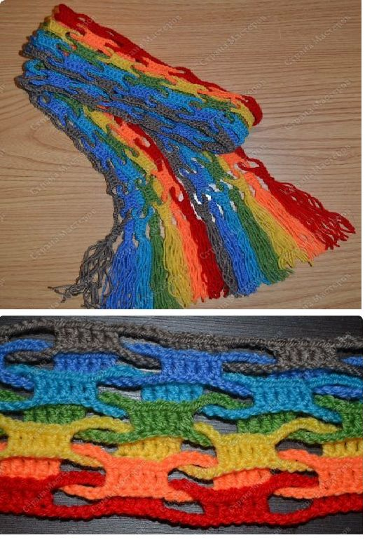 Patrones Crochet: Bufanda Crochet Punto Ondas o Cadenetas.Tutorial