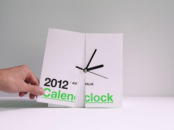 CalenClock: calender and clock in one, great idea!