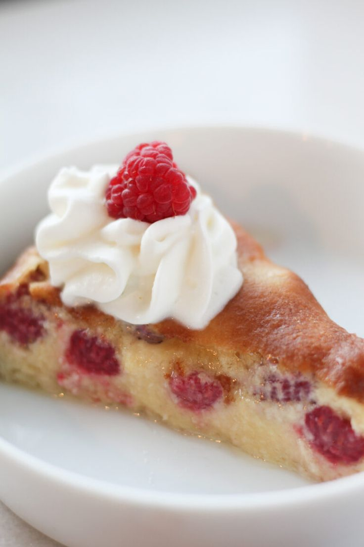 Baked Keto Custard Pie with Raspberries (Low Carb, Gluten Free)