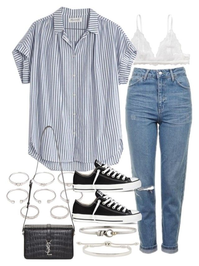 """""""Sin título #2191"""" by alx97 ❤ liked on Polyvore featuring Topshop, Monki, Madewell, Forever 21, Yves Saint Laurent, Converse, Tiffany & Co. and Monica Vinader"""