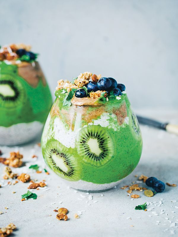 Try this next-level smoothie from bloggers Green Kitchen Stories. Their new book, Green Kitchen Smoothies, is a celebration of this healthy way to pack fruit, veg and nuts into your diet. This showstopping smoothie can double up for dessert or breakfast.