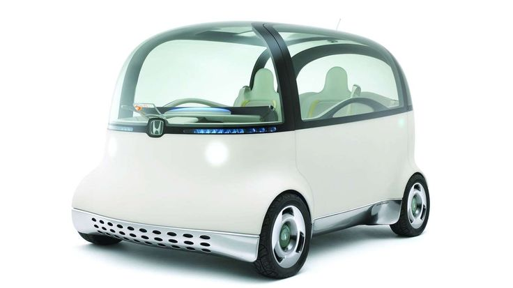 """The soft-bodied Honda Puyo fuel cell vehicle of 2007 was meant to convey a """"warm, friendly impressio... - Honda"""