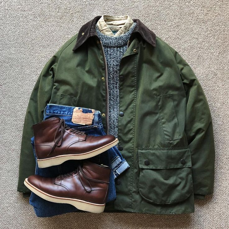 "1,480 Likes, 3 Comments - @the.daily.obsessions on Instagram: ""Today's Outfit. ↓ #Barbour Bedale Oiled Jacket 80's Vintage #PeterStorm Wool Ribbed Sweater…"""