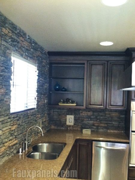 Faux Stone Backsplash Kitchen 11 best left over stone images on pinterest | faux stone panels