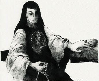 La loa de Juana Inés, ilustración de la revista Letras Libres