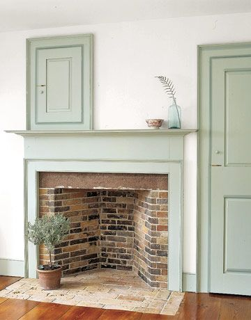 Green Fireplace Mantel