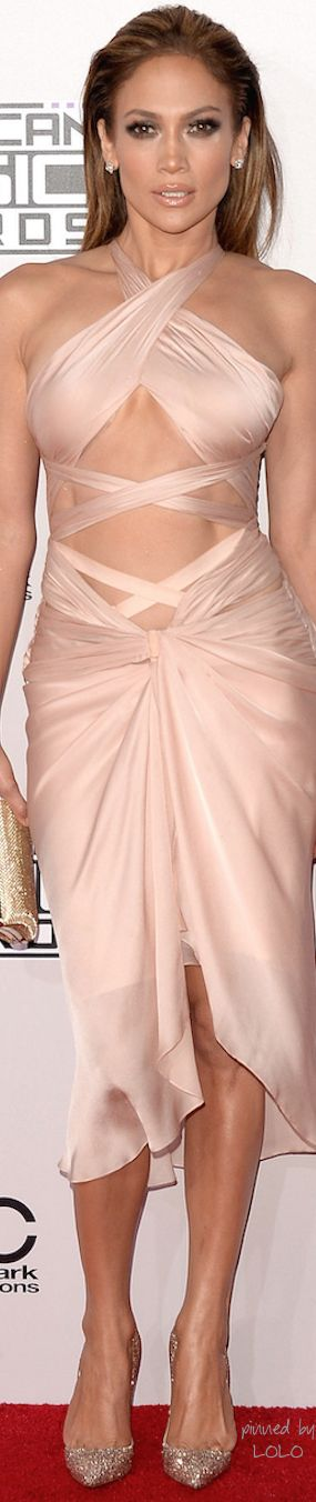 Reem Acra 2014-2015 - worn by Jennifer Lopez 2014 AMA's Red Carpet