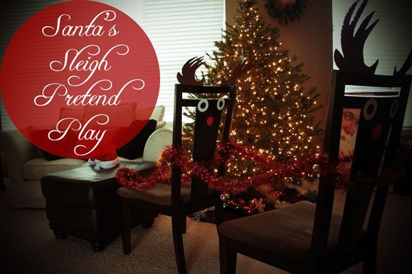Christmas Activities for Toddlers: Santa and His Sleigh - The Well Nourished Nest