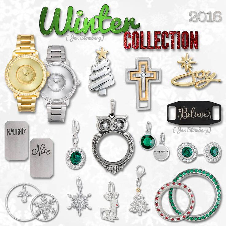 The Winter Collection for 2016! 🎅🎄⛄🐧❄🍭💚❤    💖 To my fellow designers: Please feel free to use my graphic on your own page, but please do not crop, edit, or add filters. Thank you! 💖   #HolidayCollection #Christmas #GiftIdeas #ForHer #Jewelry #Bling #CustomJewelry #CharmAddict #OrigamiOwl #LolliLocket #Watch #LocketWatch #PatentPending #WatchOfTheDay #WOTD #InstaWatch #ChristmasTree #Joy #Emerald #Earrings #Cross #Owl #Believe #NaughtyOrNice #Rudolph #Angel #Snowflake