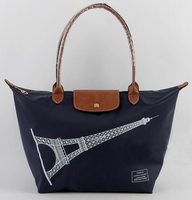 Longchamp Le Pliage Eiffel Tower Bags Navy