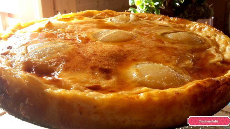 Gâteau+façile++au+lait+concentré,+poires+sirop+d'érable