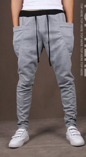 8 Colors 2015 Unique Pocket Mens Joggers Cargo Men Pants Sweatpants Harem Pants Men Jogger Pants Men Pantalones Hombre