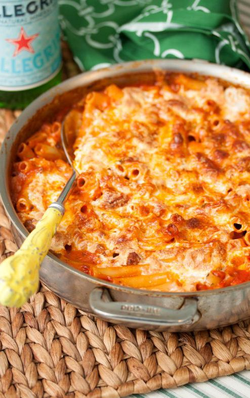 Skillet Baked Ziti Recipe >> there are ALOT of recipes on this page that look wonderful :)