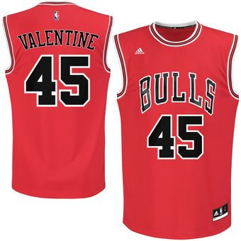 Denzel Valentine Chicago Bulls adidas 2016 Draft Pick Replica Jersey - Red