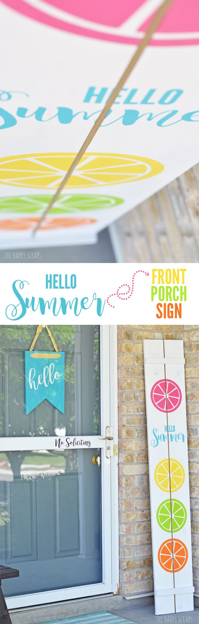 Does your porch needs a little splash of color for summer? This Hello Summer Front Porch Sign is the project for you! The Circut Explore Air 2 makes creating it easy. Get the tutorial at The Happy Scraps.
