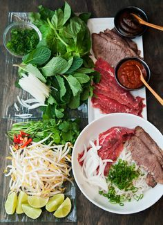 Pho, a popular Vietnamese noodle soup consisting of broth, linguine-shaped rice noodles called bánh phở, a few herbs, and meat. Pho is a popular street food in Vietnam, and we thought it would be a wonderful idea to try to bring the experience home! For the broth: 2 medium yellow onions, slice in half (skin …