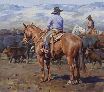 """Young Cowboy"" by Jason Rich cowboy artist"