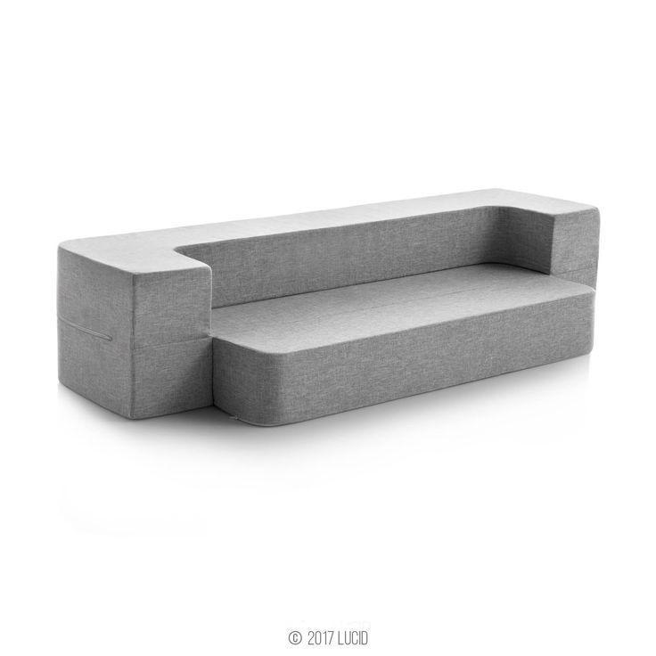 LUCID 8 Inch Convertible Foam Mattress and