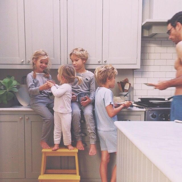 Erin... You will have 4 little blonde kids running around someday. I call it.