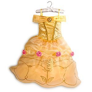 Disney Belle Costume for Girls | Disney StoreBelle Costume for Girls - She'll relive a tale as old as time in our shimmering costume inspired by Belle's glamorous ball gown in <i>Beauty and the Beast</i>. Rosettes, a jeweled cameo, and glittering gold accents add fairytale charm to this Belle Costume.
