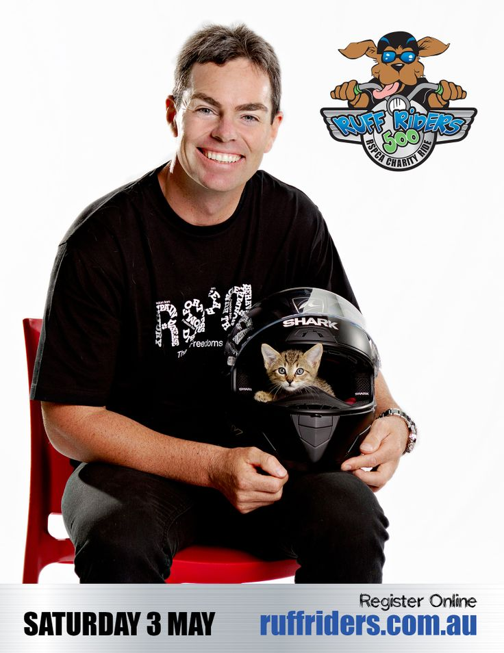 The 3rd Annual RUFF RIDERS is on Saturday May 3! Join Craig Lowndes on our Charity Bike Ride to FIGHT ANIMAL CRUELTY. So if you are a motorbike enthusiast or social rider, come for a scenic ride across South East Queensland and Northern NSW and help RSPCA animals in need. To register and start fundraising visit www.ruffriders.com.au #charitybikeride #bikeride #motorbike #motorcycle #craiglowndes #bike #rspcaqld #fightanimalcruelty #queensland #southeastqueensland #northernNSW