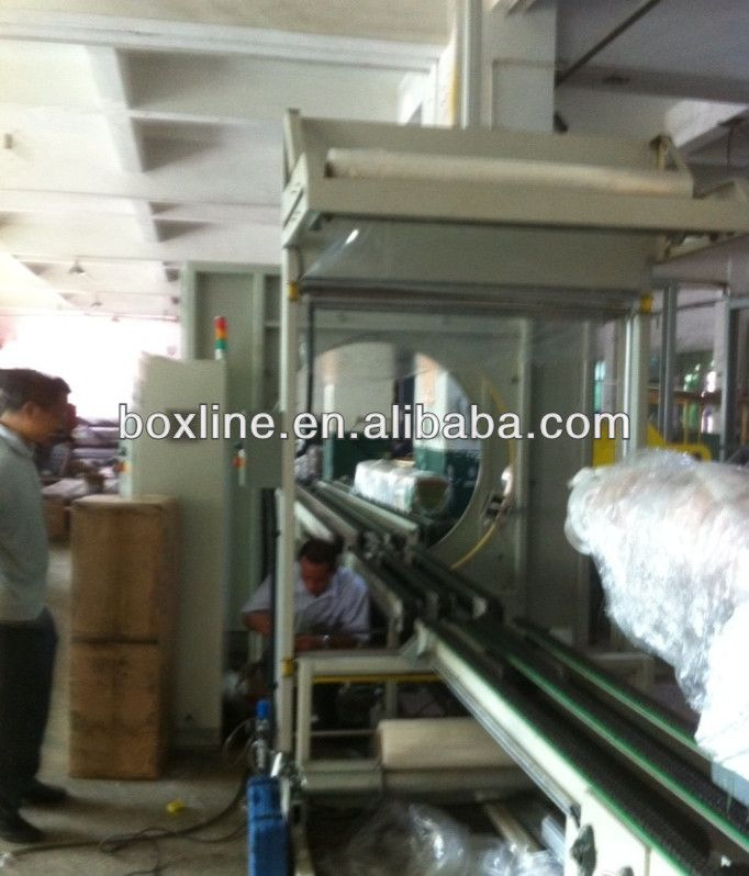 Automatic film packaging machines furniture orbital wrapping machine