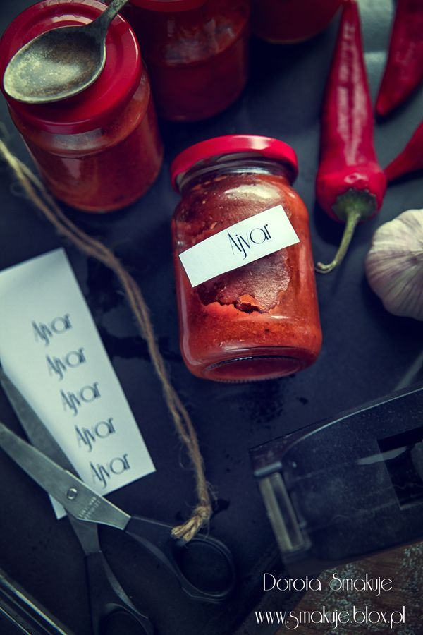 Ajvar (pasta z papryki ,baklazana i pomidorow)